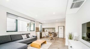 light and bright apartment interior
