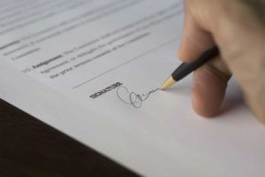 Completing a rental application